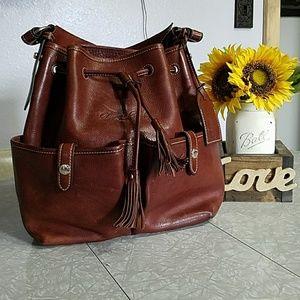 Dooney and Bourke Vachetta Bucket Bag in chestnut